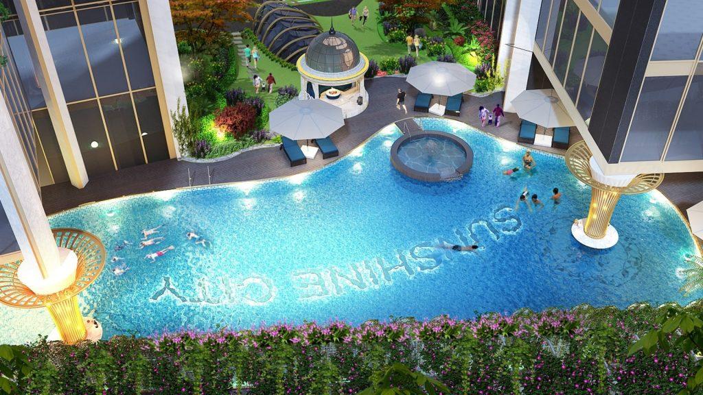 Bể bơi bốn mùa sunshine city Ciputra